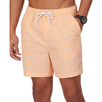 Nautica Mens Checkered Lined Board Shorts
