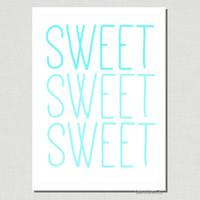 Ombre Sweet - Wall Art - DIY Printable Art - Instant Download