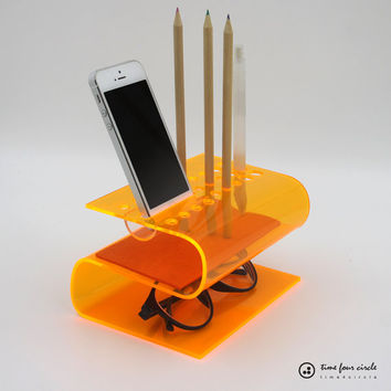 iPhone Stand,Cell Phone Stand,Desk Organizer,Android Docking,Pen Holder,Gift Him