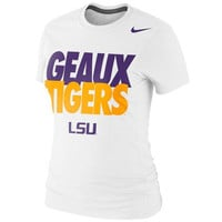 LSU Tigers Nike Women's Local Slim Fit T-Shirt – White