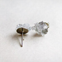 Gemstone stud earrings - Winter Celestite post stud earring