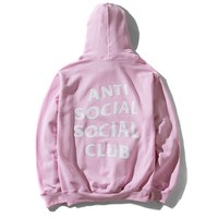 Indie Designs Anti Social Club Printed Hoodie
