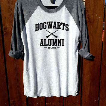 unisex shirt,heather grey/heather white,Harry Potter shirt,deathly hallows,hogwarts alumni  glasses and lightning bolt shirt,wizard Shirt
