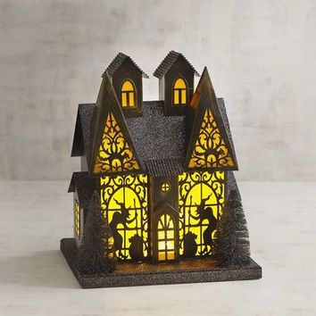 LED Light-Up Witch's Haunted House