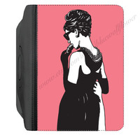 "Breakfast at Tiffany's Audrey Hepburn PU Leather Flip Swivel Case Cover Kindle Fire HD 7"" iPad 2 / 3 / 4"