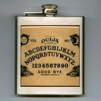 Ouija Board Whiskey Hip Flask Stainless Steel 6 oz Supernatural