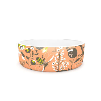 "Very Sarie ""Hope for the Flowers I"" Coral Brown Pet Bowl"