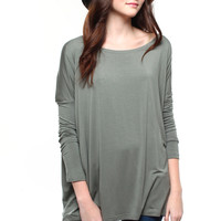 Bamboo Scoop Top - Sage