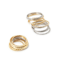 Textured Ring Set