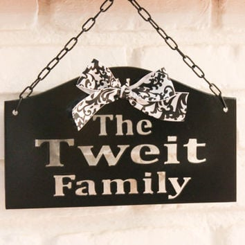 Custom metal welcome sign with last name by TheRustedGate on Etsy