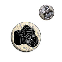 Photographers Camera Lapel Pin