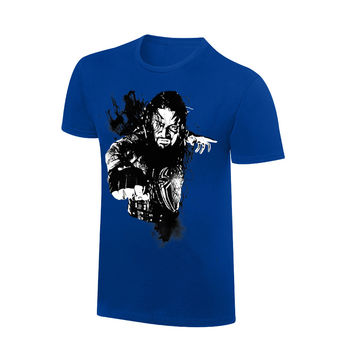Roman Reigns Rob Schamberger Blue Art Print T-Shirt