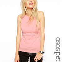 ASOS PETITE Tank with High Neck in Modal Mix - Pale pink