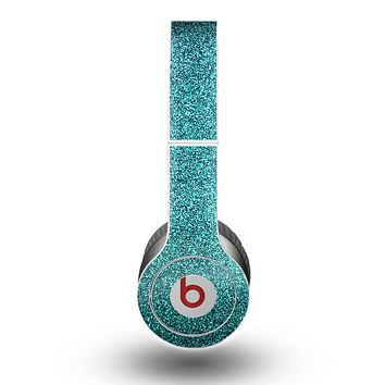 The Teal Glitter Ultra Metallic Skin for the Beats by Dre Original Solo-Solo HD Headphones