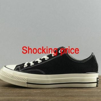 2018 Cheap Priced Unisex Converse Chuck Taylor All Star 1970s Low Black White 157452 newest sneaker