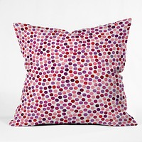 Garima Dhawan Watercolor Dots Berry Throw Pillow