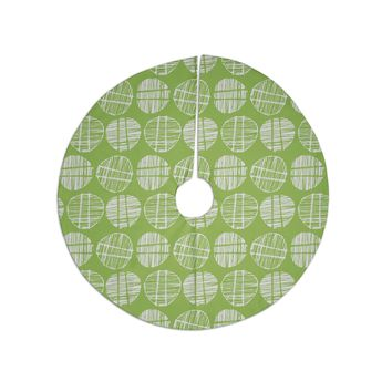 "Gill Eggleston ""Sketched Pods Green"" Green White Abstract Modern Digital Vector Tree Skirt"
