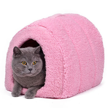Cozy Fabric Kitty Kennel