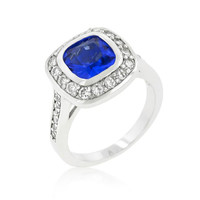 Sapphire Classic Ring, size : 10