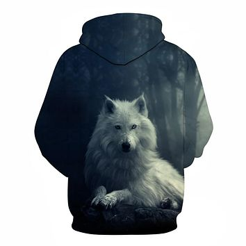 Animal Hoodies Wolf 3D Unisex Novelty Streetwear Brand Pullover