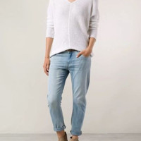 NEW Vince Linen Long Sleeve Knit Pull Over Top, White (Size L) - MSRPl $295.00!