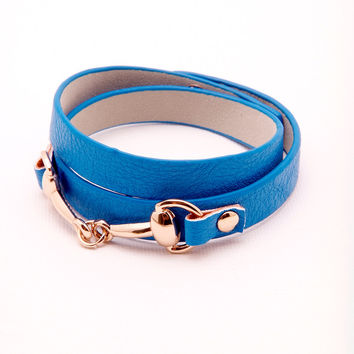 Wrap Around Bracelet - Blue