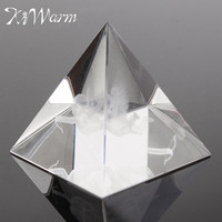 Fashion Feng Shui Energy Healing Small Angel Egypt Egyptian Clear Crystal Pyramid Ornament Crafts Luck Gifts Home Room Decor