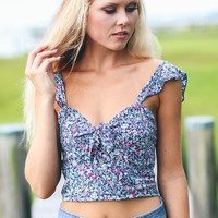 70's Sweetheart Cropped Top