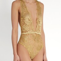 Gaia rouleau-button lace bodysuit | Coco De Mer | MATCHESFASHION.COM US