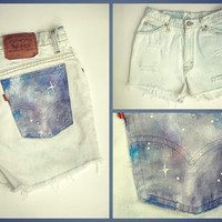 Galaxy Distressed Cut-off Levi Shorts