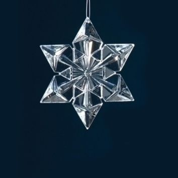 "4.5"" Icy Crystal Clear Snowflake Christmas Ornament"