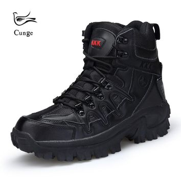 Outdoor Hiking Shoes Army Military Tactical Combat Shoes Boots Army SWAT Shoes Men Anti-slip Breathable Hiking Climbing Shoes