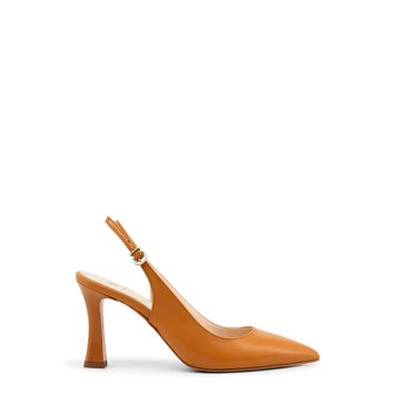 Made In Italia Brown Pointed Toe Ankle Strap Court Pumps
