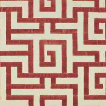 Clarence House Fabric 34129-8 Labyrinth Coral NC12