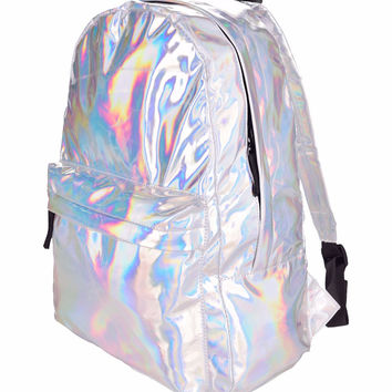 Holographic Iridescent Backpack