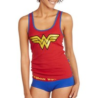 Juniors Wonder Woman Tank and Hipster Panty Set - Walmart.com