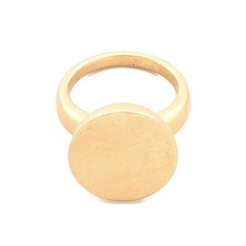 Gold Filled Disc Band Ring