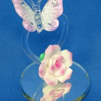 Glass Baron Butterfly Heart Violet