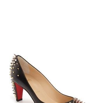 Christian Louboutin 'Goldopump' Spiked Pointy Toe Pump | Nordstrom