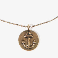Anchor Coin Charm Necklace