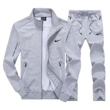 Nike Fashion Casual Cardigan Jacket Coat Pants Trousers Set Two-Piece-1
