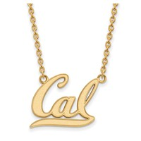 NCAA 14k Gold Plated Silver U of Cal Berkeley 'Cal' Pendant Necklace