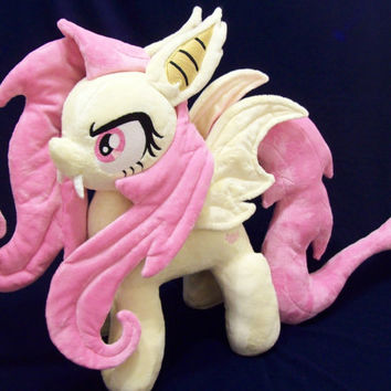 Mlp Flutterbat Custom Plush Open Commission Minky Fan Art Plushie 15""