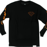DIAMOND LOW LIFE L/S XXL-BLK/ORG