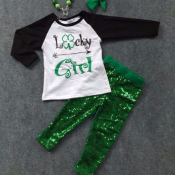 St Patrick's Day Lucky Girl Outfit