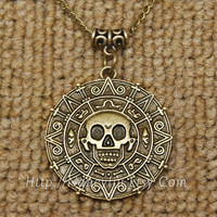Pirates of the Caribbean Necklace Pendant, At World's End Necklace, Cursed Pirate Doubloon, 244N13