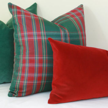 Ruby red velvet pillow cover 18x18 20x20 22x22 24x24 26x26 Euro sham red Lumbar pillow 12x20 12x24 14x24 14x26 16x24 16x26 Red velvet lumbar
