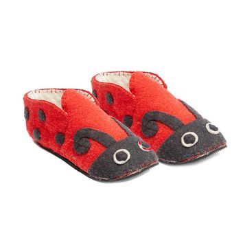 Ladybug Slippers Adult - Silk Road Bazaar