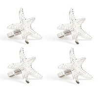 Star Fish Design Napkin Rings (Set of 4) [Set of 4]