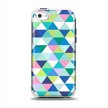 The Vibrant Fun Colored Triangular Pattern Apple iPhone 5c Otterbox Symmetry Case Skin Set